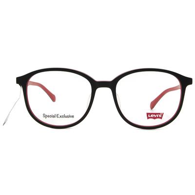 LEVI'S Special Exclusive-橢圓框眼鏡 炫酷海棠紅