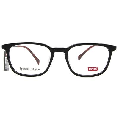LEVI'S Special Exclusive-粗框眼鏡 精雕微醺紅