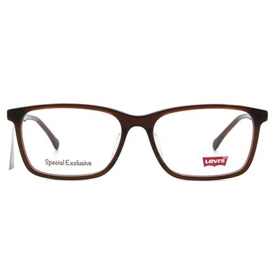 LEVI'S Special Exclusive-方框眼鏡 魅力拿鐵棕