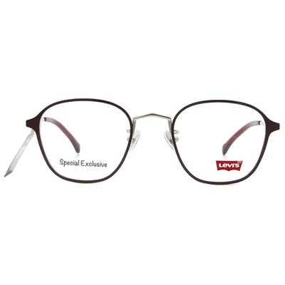 LEVI'S Special Exclusive-威靈頓框眼鏡 街頭梅紅棕