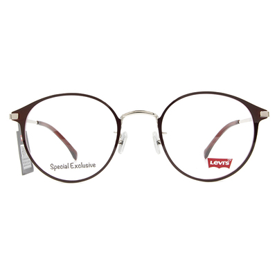 LEVI'S Special Exclusive-橢圓框眼鏡 優雅紅梨色
