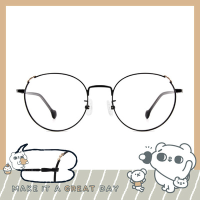 songsongmeow19 × 微醺夢境橢圓框眼鏡 煙燻黑