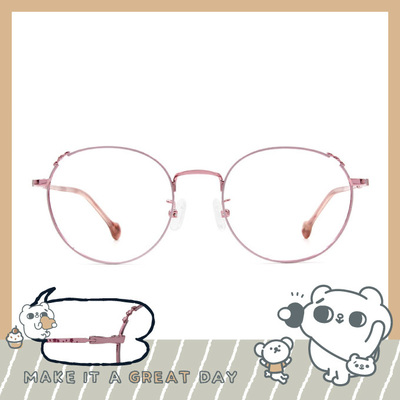 songsongmeow19 × 微醺夢境橢圓框眼鏡 愛戀粉