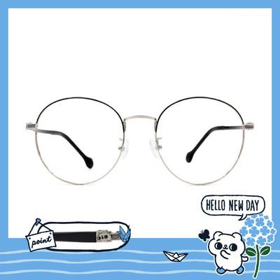 songsongmeow19 × 優雅自信橢圓框眼鏡 鑽石銀