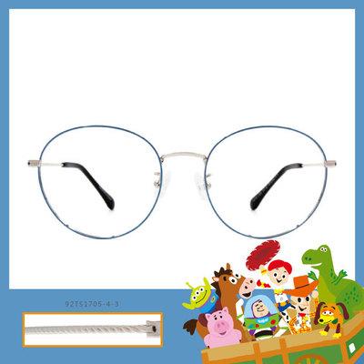 Toy Story × 胡迪橢圓框眼鏡 牛仔繩紋 ◆ 聚光藍