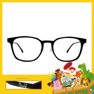 Toy Story × 胡迪粗方框眼鏡 簡約主義 ◆ 礦石黑