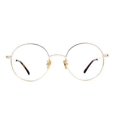 a/p lab▼時尚設計圓框眼鏡 香檳金