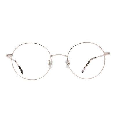 a/p lab▼時尚設計圓框眼鏡 鑽石銀