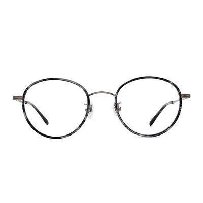 a/p lab▼時尚設計橢圓框眼鏡 迷彩黑