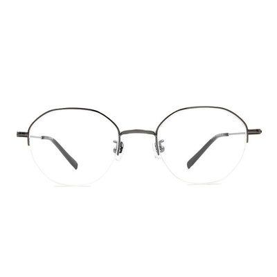 a/p lab▼時尚設計眉框眼鏡 鎧甲黑
