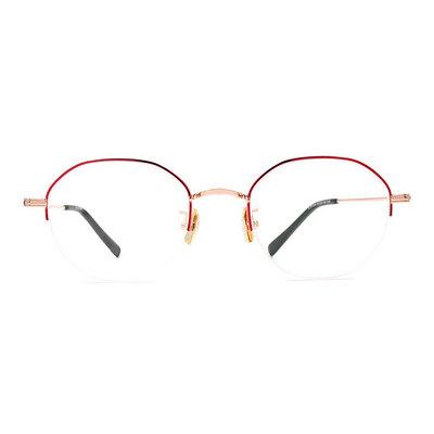 a/p lab▼時尚設計眉框眼鏡 瑰麗紅