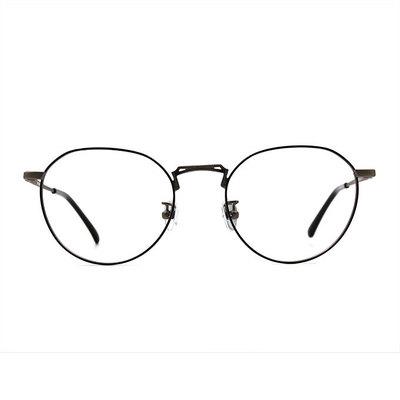 a/p lab▼時尚設計多邊框眼鏡 古銅咖