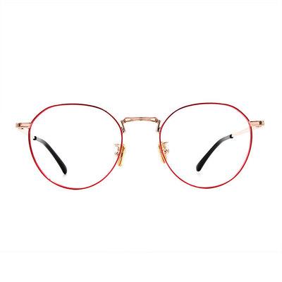a/p lab▼時尚設計多邊框眼鏡 海棠紅