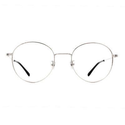 a/p lab▼時尚設計橢圓框眼鏡 雪幕銀