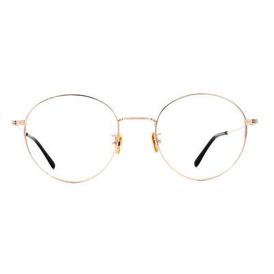 a/p lab▼時尚設計橢圓框眼鏡 輝煌金