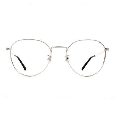 a/p lab▼時尚設計圓方框眼鏡 科技銀