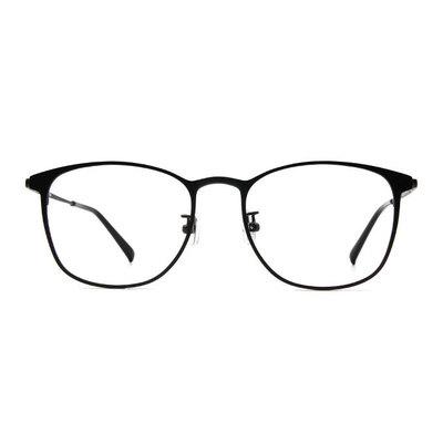 a/p lab▼時尚設計眉型方框眼鏡 霧感眼鏡黑