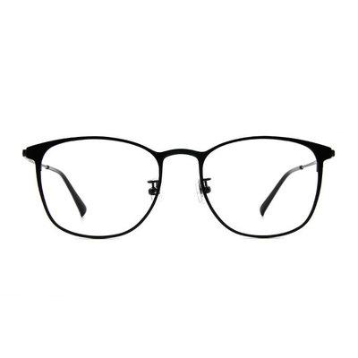 a/p lab▼時尚設計眉型方框眼鏡 鋼琴黑