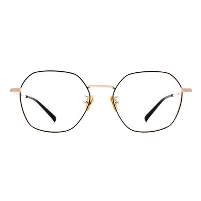 a/p lab▼時尚設計多邊框眼鏡 質感金