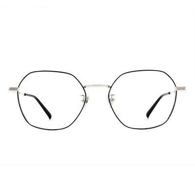 a/p lab▼時尚設計多邊框眼鏡 撞色黑