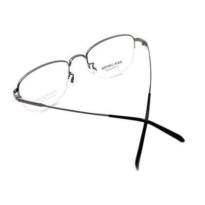 CHARMANT β-鈦 簡約多邊型眉框 ▏太空銀/銀