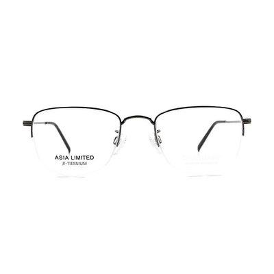 CHARMANT β-鈦 簡約多邊型眉框眼鏡 ▏太空銀/銀
