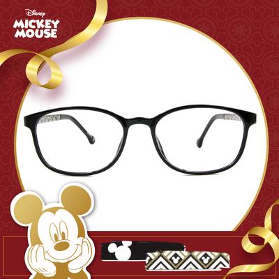 新年好運鼠不盡 l 圖騰花磚 橢圓框眼鏡▶特務黑