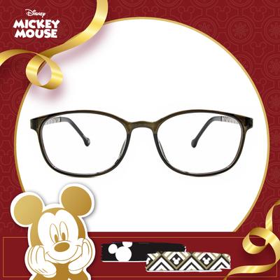 新年好運鼠不盡 l 圖騰花磚 橢圓框眼鏡▶深墨綠