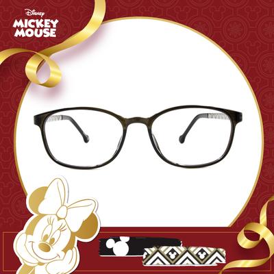 新年好運鼠不盡 l 圖騰花磚 橢圓框眼鏡▶亞麻灰