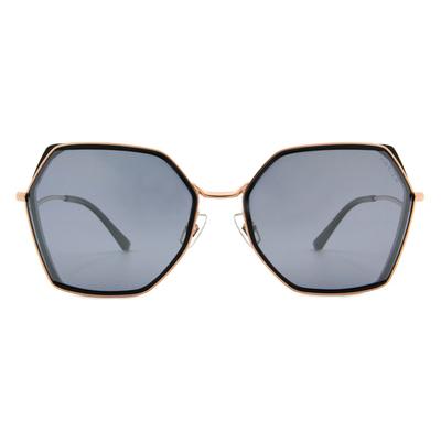 HORIEN 雙質感金線套圈款墨鏡 ☀ 圈金黑