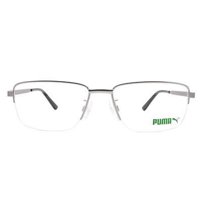 PUMA l 自我極限 眉型長方框眼鏡 l 霧銀/磁灰