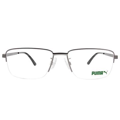 PUMA l 自我極限 眉型長方框眼鏡 l 鐵灰/玳帽