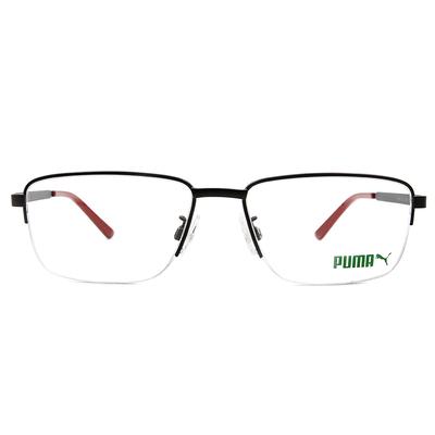 PUMA l 自我極限 眉型長方框眼鏡 l 霧黑/暗紅