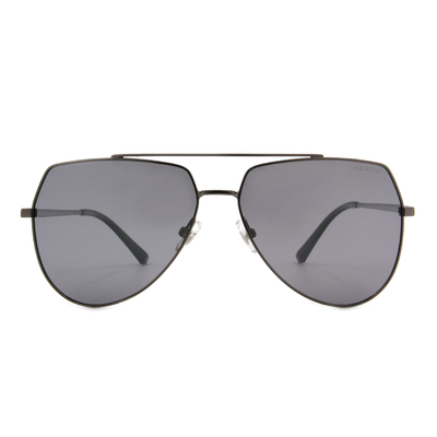 HORIEN 時空旅人飛官款墨鏡 ☀ 鋼質銀