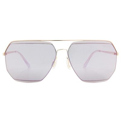HORIEN 雙色美學飛官框墨鏡  ☀ 玫瑰粉