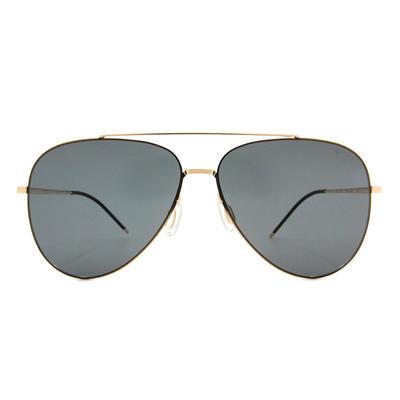 HORIEN 細緻金邊雙槓飛官框墨鏡  ☀ 高貴金