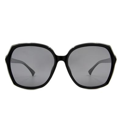 HORIEN 簡約典雅大方框眼鏡墨鏡  ☀ 尊貴黑