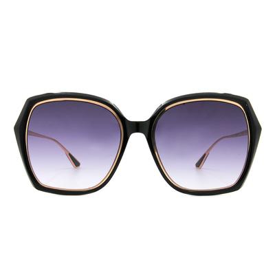HORIEN 古典花園大方框墨鏡  ☀ 墨紫黑