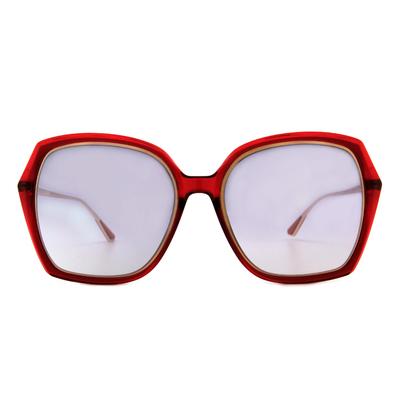 HORIEN 古典花園大方框墨鏡  ☀ 性感紅
