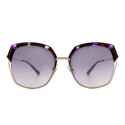 HORIEN 華麗轉圈大方框墨鏡  ☀ 霓虹紫