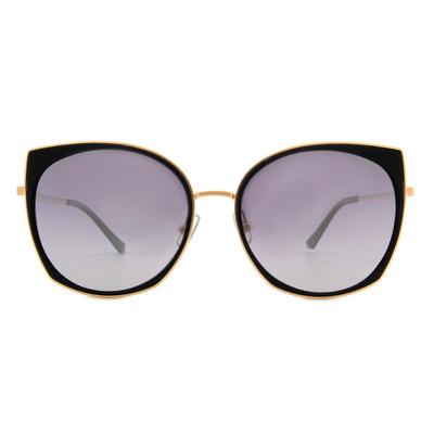 HORIEN 俐落眼線貓眼圓框墨鏡  ☀ 野性黑