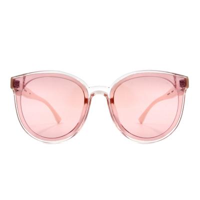 HORIEN 任性玩色晶透大圓框眼鏡墨鏡  ☀ 溫柔粉