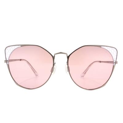 HORIEN 摩登女子菱格貓眼框墨鏡  ☀ 蜜桃粉