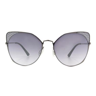 HORIEN 摩登女子菱格貓眼框墨鏡  ☀ 魔法灰