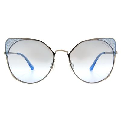 HORIEN 摩登女子菱格貓眼框墨鏡  ☀ 琉璃藍