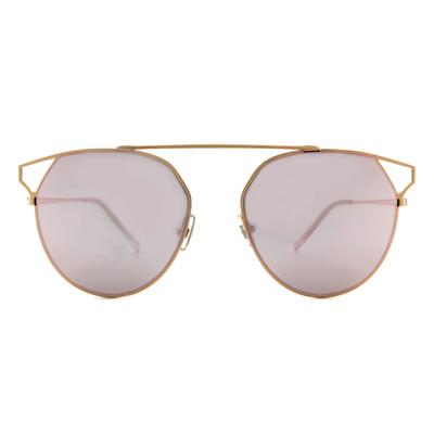 HORIEN 率性眼角婁空設計框墨鏡  ☀ 百合粉
