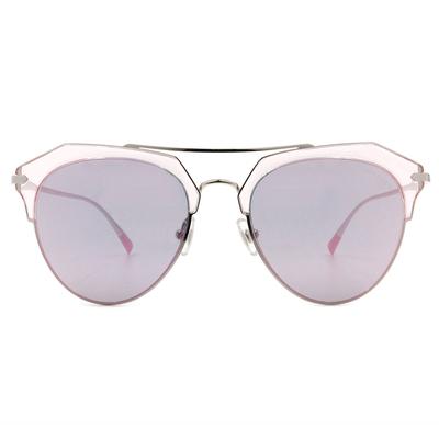 HORIEN 潮流透色眉型飛官框墨鏡  ☀ 花漾粉