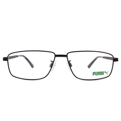 PUMA l 無畏自信 長方框眼鏡 l 深灰/黛藍