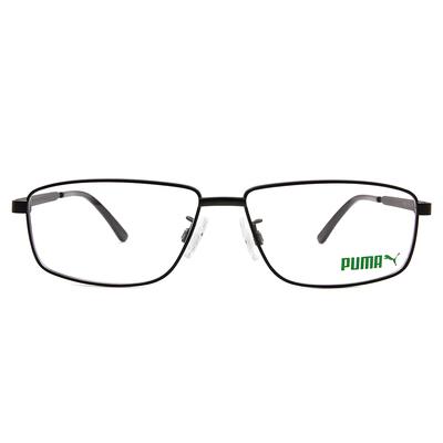 PUMA l 無畏自信 長方框眼鏡 l 磁黑/霧黑