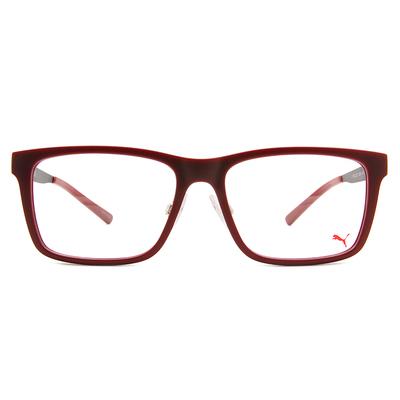 PUMA l 美學新章 威靈頓框眼鏡 l 丹砂紅